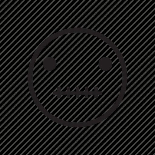 emoji, emoji face, emoticon, feeling, quite, silent, speechless icon