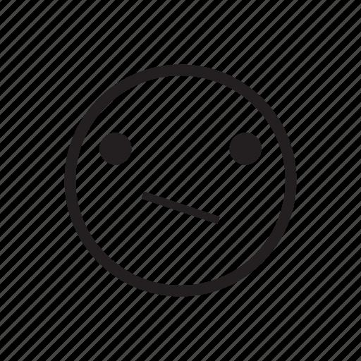 emoji, emoticon, emotion, impassible, meh, quiet, silent icon