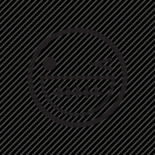 emoji, emoticon, enjoy, grin, happy, smile, smile face icon