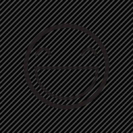 emoji, emoticon, glad, happy, joyous, pleased, smile icon