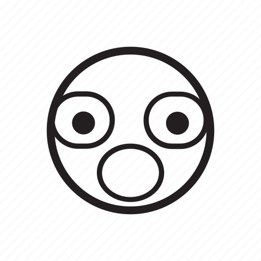 emoji, emoticon, frightened, scared, shocked, silent, surprised icon