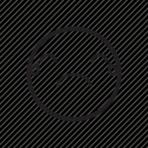 emoji, emoticon, grieve, regret, sad, sorry, upset icon
