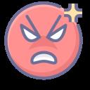 anger, emoji, emotion, face, smiley icon