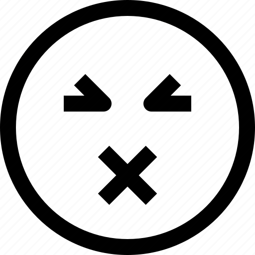 emoji, emotion, feeling, muted icon