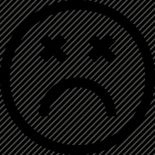 emoji, emotion, feeling, sad icon