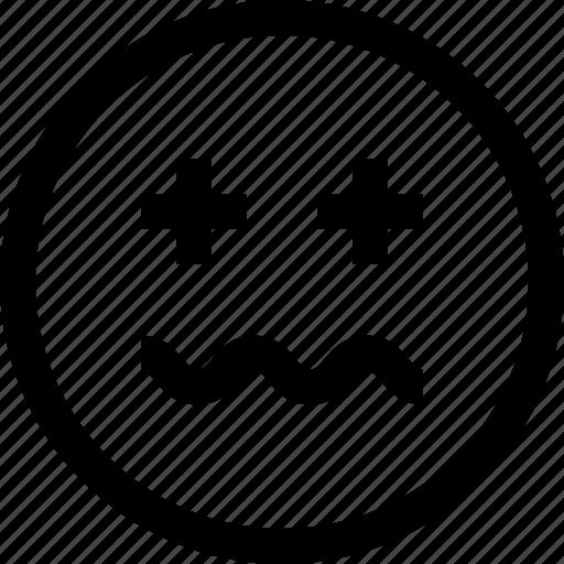 emoji, emotion, feeling, sick icon