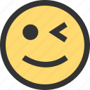 blink, emoji, emojis, eye, face, faces, smile icon