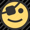 emoji, emojis, face, faces, happy, pirate, treasure icon