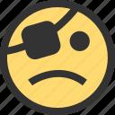 emoji, emojis, face, faces, no, pirate, treasure icon