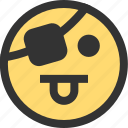 doing, emotion, face, his, job, not, pirate icon