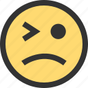 blink, emoji, emojis, eye, face, faces, sad icon