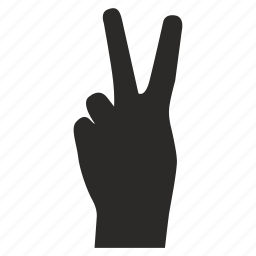 fingers, gesture, hand, twice icon