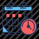 calendar, events, schedule, watch icon