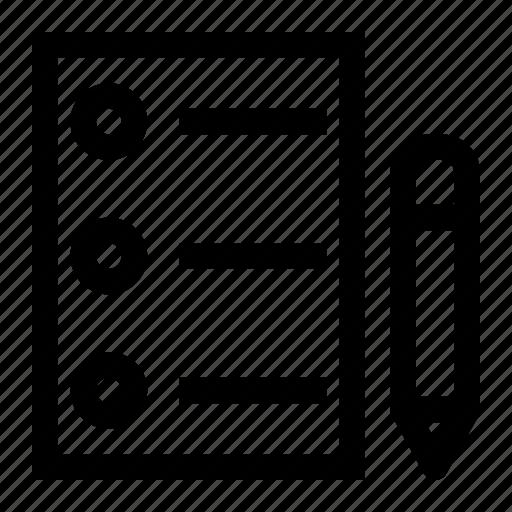 create, document, edit, list icon