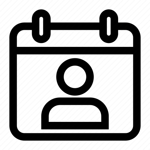 calendar, date, month, user icon