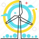 ecology, electricity, environmental, power, turbine, wind, windmill icon