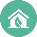 eco, ecology, environment, green, home, house icon