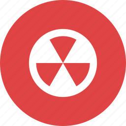 atomic, burn, dangerous, nuclear, radioactive, warning icon