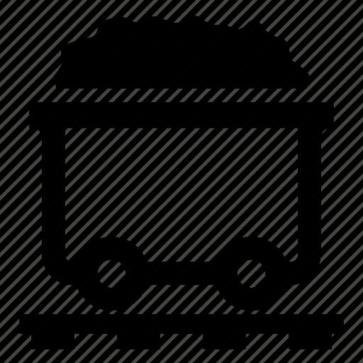 coal, dram, energy, truck icon