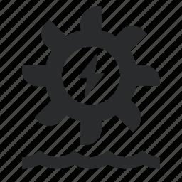 electricity, energy, hydro, turbine, water icon