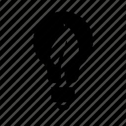 bulb, eco, energy, light icon