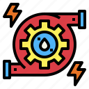 ecology, energy, hydro, power, technology, water icon