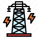 electric, electrical, electronics, pole icon
