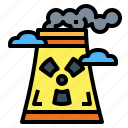 buildings, chimney, industry, nuclear icon