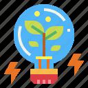 bulb, creative, idea, light, plant