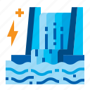 dam, electric, energy, power, water icon