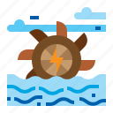 energy, hydraulic, turbine, water icon