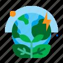 earth, energy, green, leaf, world