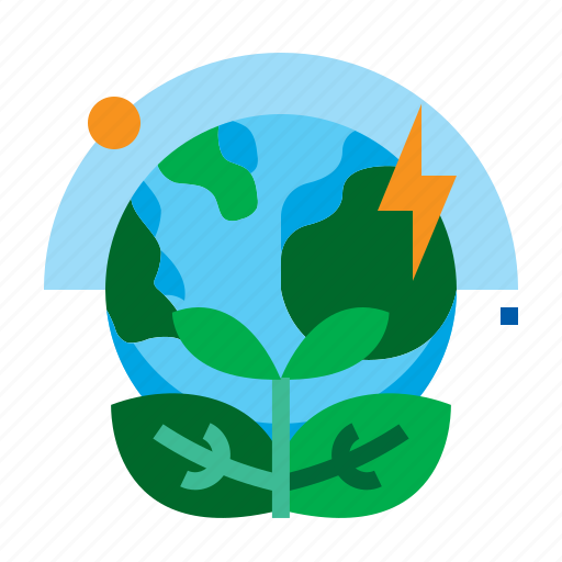 earth, energy, green, leaf, world icon