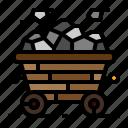coal, energy, mine, tram icon