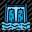 dam, energy, power, water icon