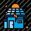 cell, energy, house, saving, solar