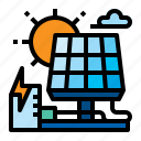 energy, sunlight, power, solar icon