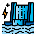 dam, electric, energy, water icon