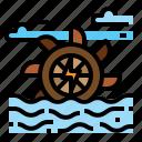 energy, hydraulic, turbine, water icon