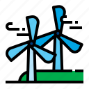 air, energy, turbine, wind icon