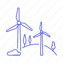 1, converter, energy, farm, green, mill, power, renewable, station, sustainable, turbine, wind icon