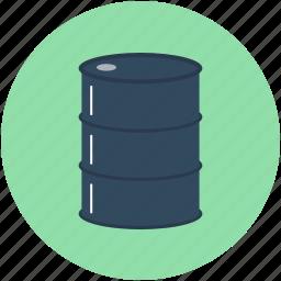 barrel, crude, oil barrel, oil container, petroleum icon