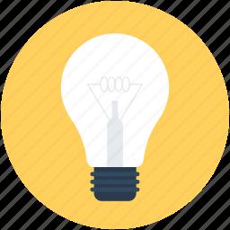 bulb, electric light, led bulb, light bulb, luminaire icon
