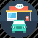 filling station, fuel station, gas station, petrol pump, petrol station
