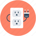 extension cable, extension cord, extension lead, power extension, power supply icon