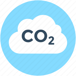 carbon dioxide, cloud, co2, formula, science icon