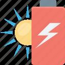 battery, charging, power, solar energy, thunder