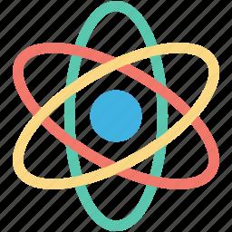 atom, molecule, nuclear, orbit, proton icon