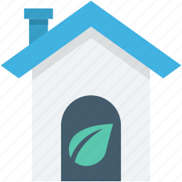 eco house, glasshouse, green house, house, leaf icon