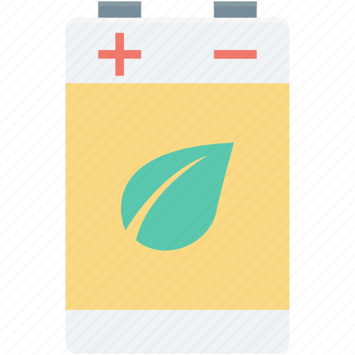 battery, ecology, electric battery, leaf, nature icon